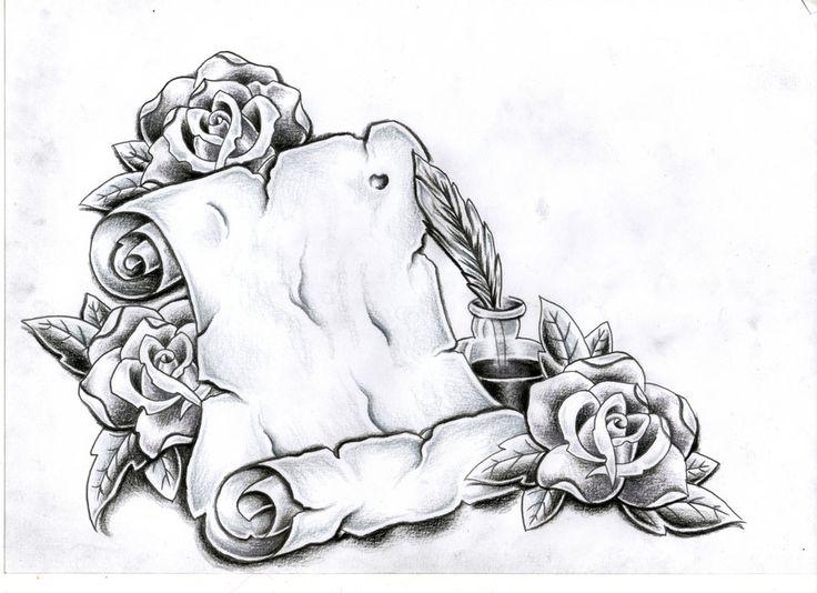 Custom scroll and rose's by Ashtonbkeje on DeviantArt