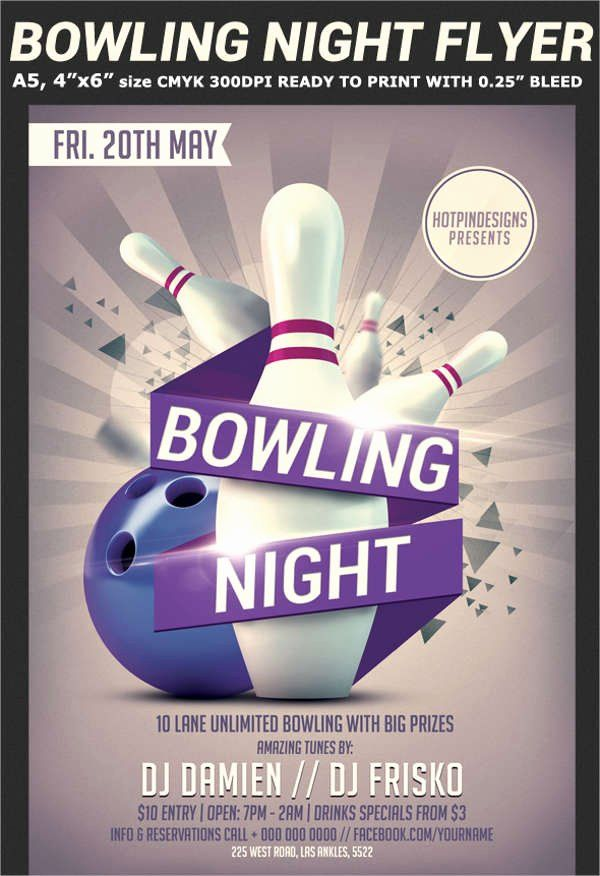 Bowling Flyer Template Free Inspirational 60 Sample Party Flyers Psd Flyer Template Flyer Template Free