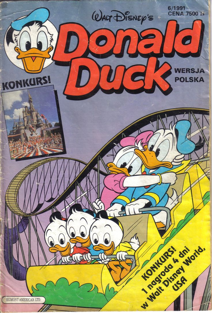 Poland - Donald Duck (Polish) Scanned image of comic book (© Disney) cover