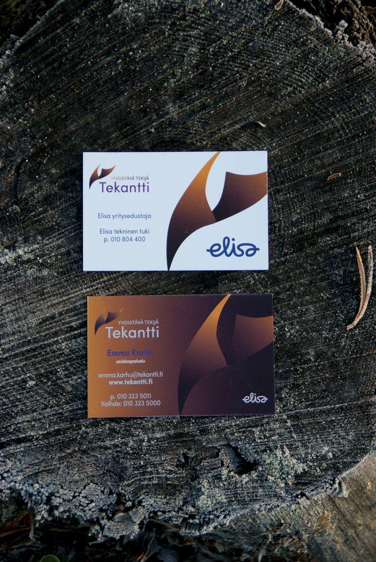 Tekantti, käyntikortti. Suunnittelu: Heidi Sarjanoja/Valokki Design.
