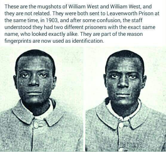STRANGE BUT TRUE  This is an amazing case of two people with the same name and who looked exactly alike who were sentenced to Leavenworth Prison at the same time. Synchronicities abound! http://www.inner-being.eu