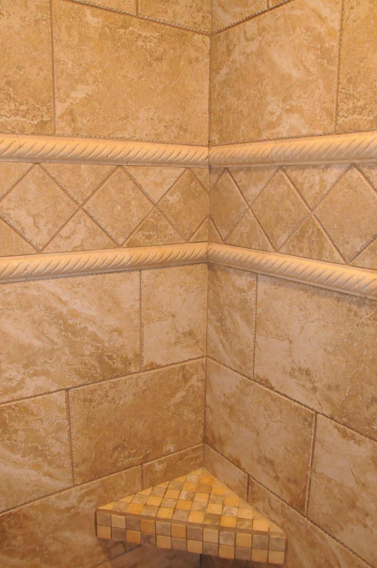 71 best tile designs images on pinterest terraces architecture custom tile and mosaic tile shower bench doublecrazyfo Image collections