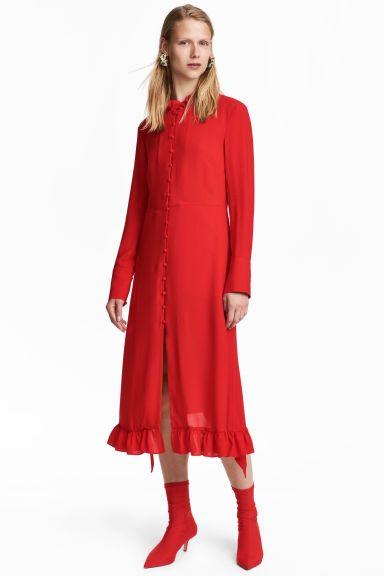 Vestido - Rojo vivo - MUJER   H&M ES 1