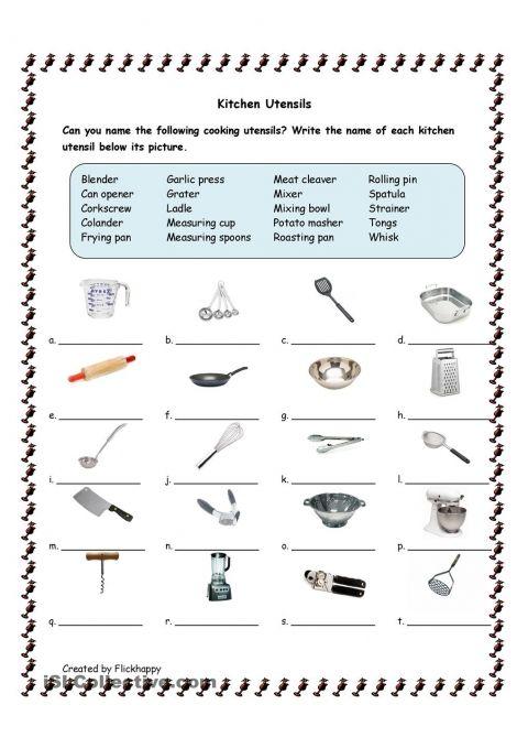 Kitchen Tools Worksheet 16 best kitchen safety images on pinterest | food safety, food