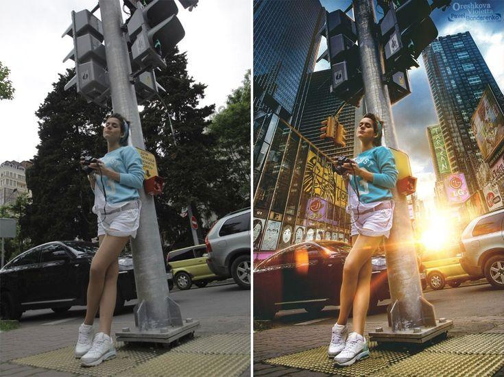 До и после фотошопа   Работа в фотошопе, Фото-ретушь ...