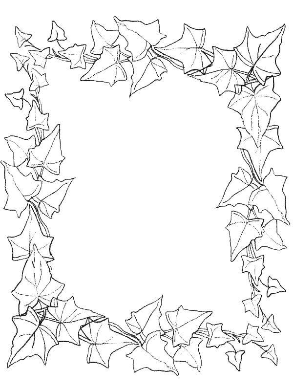 coloring page Leaves Kids-n-Fun