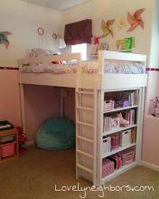 Little Girl's Loft Bed - LovelyNeighbors.com