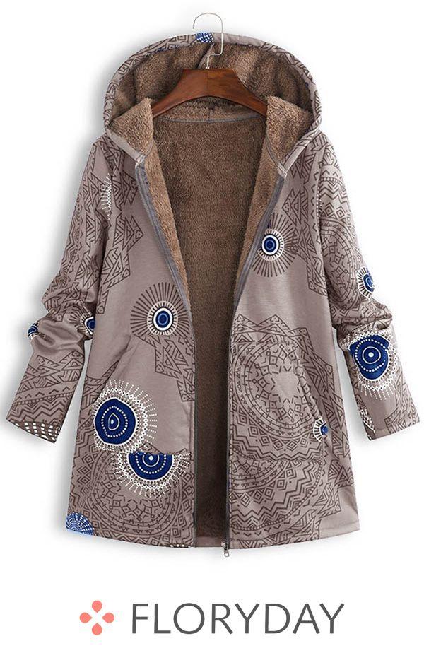 Long sleeve hooded lapel coats, hooded coats, women coats