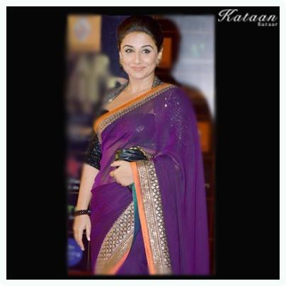 Vidya Balan in a stunning Purple Saree