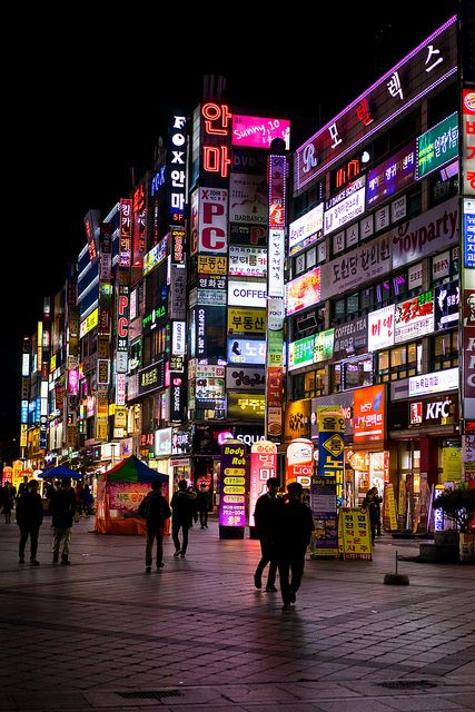 A colorful night in Seoul