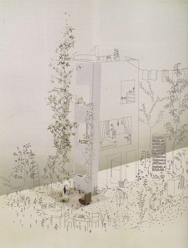 Junya Ishigami - Row House in Tokyo (via drawingarchitecture)