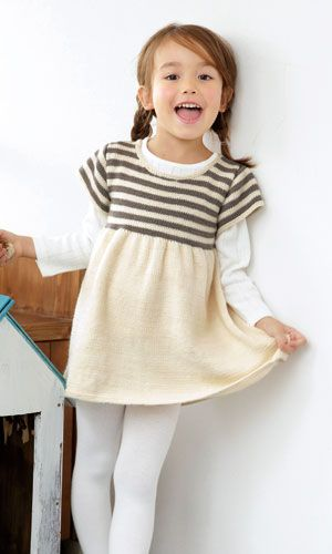 knitted girl's dress - free pattern http://www.gosyo.co.jp/img/acrobat/213w/22.pdf | Pierrot Gosyo Sangyo
