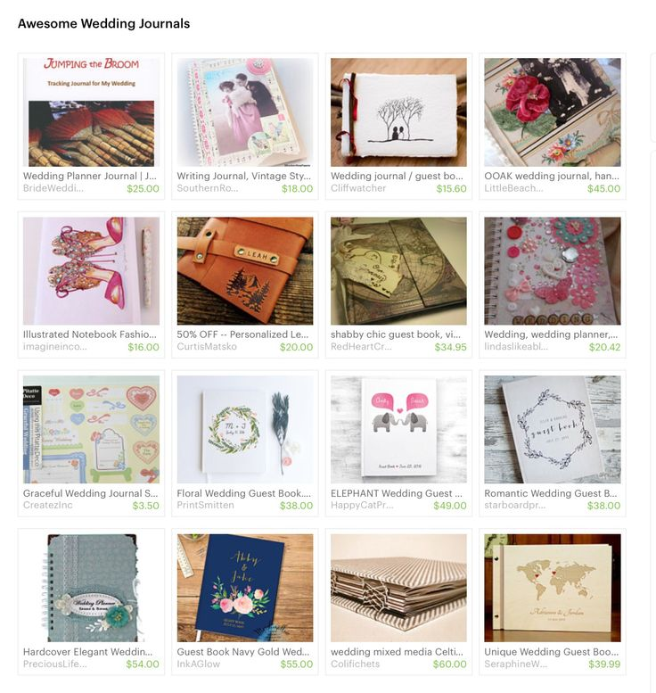 Pink Jewelled Shoes Journal featured in Etsy 'Wedding Journals ' Treasury