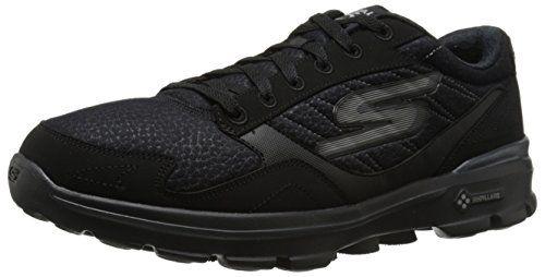 Skechers Performance Men's Go Walk 3-Compete LT Walking Shoe, Black/Black, 9.5 M US - http://all-shoes-online.com/skechers-3/9-5-d-m-us-skechers-performance-mens-go-walk-3-lace-up