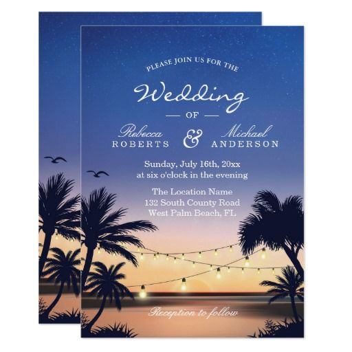 196 Best Images About Sunset Wedding Invitations On