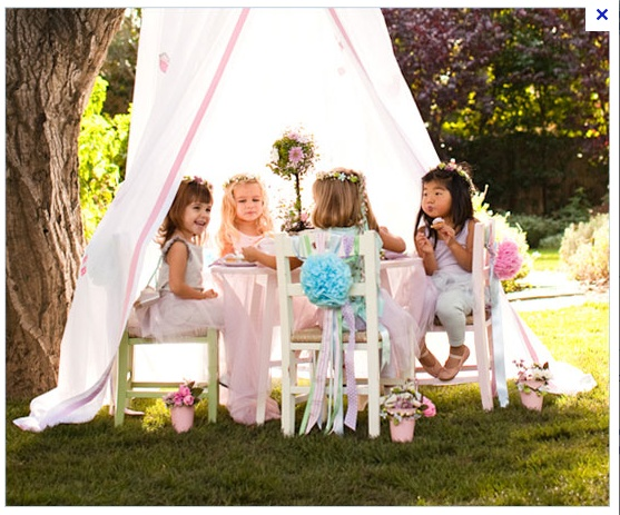 Girly garden tea party - would make beautiful photo scene