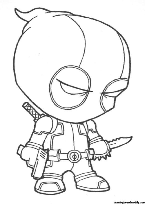 Coloring Pages Deadpool Cool Cartoon Drawings Avengers Coloring Pages Marvel Coloring