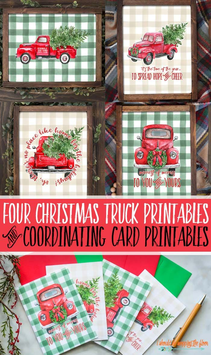 33++ Free red truck printables trends
