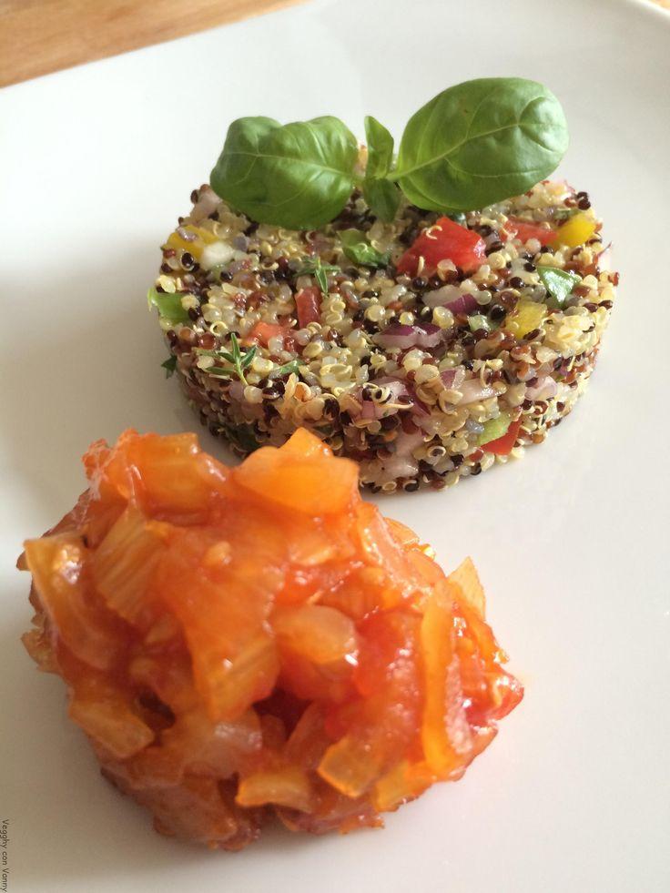 Insalata di quinoa e verdure a crudo