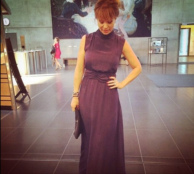 Danish Radio concert Hall - TV Festival - looking good in jewellery from @clanofdk and dress from @gestuz :-)