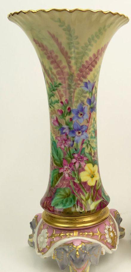 19th Century Henri Ardant French Limoges Porcelain Hand Painted Vase