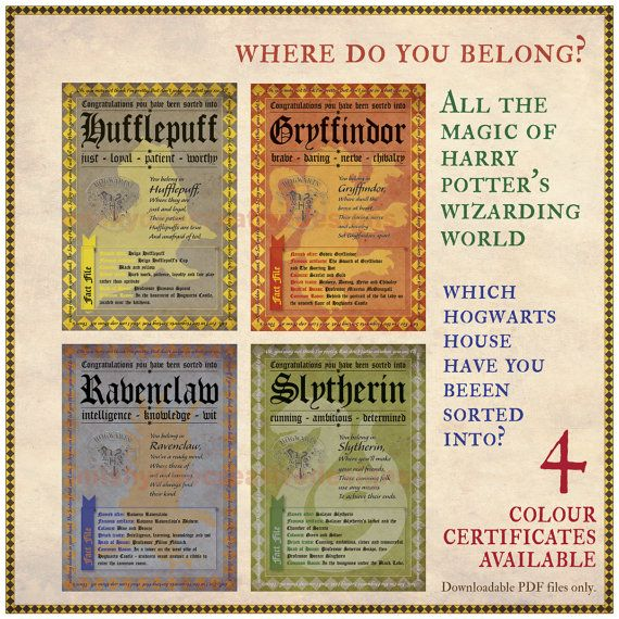 Which Hogwarts How Do You Belong To: 305 Best SORTING HAT Images On Pinterest