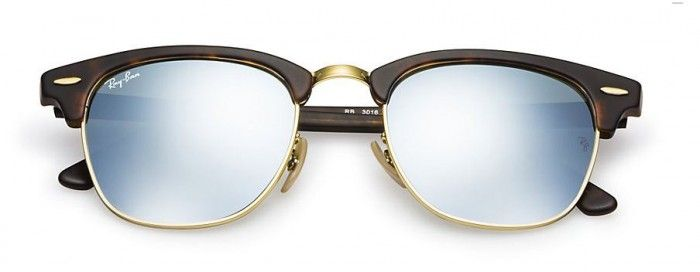 l Ray-Ban Clubmaster Flash Lenses/zonnebril