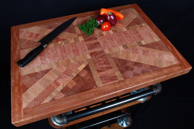 Union Jack end grain chopping board