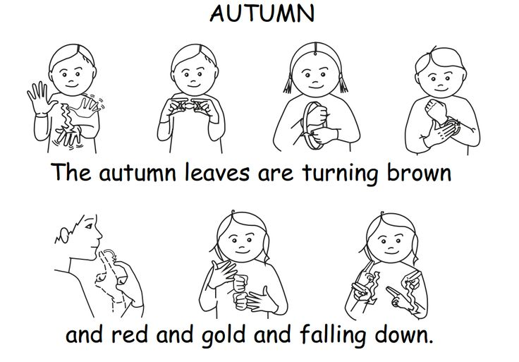 A simple little rhyme with signs from British Sign Language vocabulary