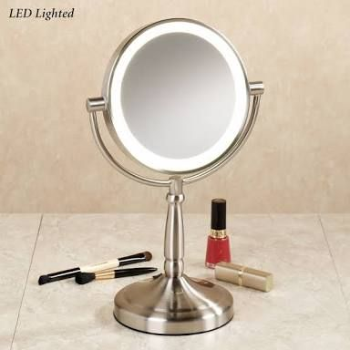 Image result for small mirror with lights