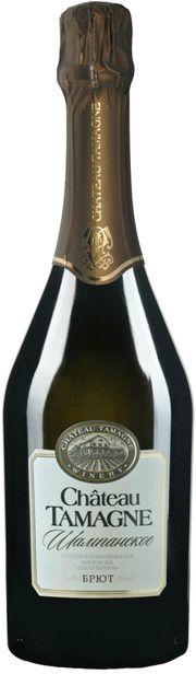 Игристое вино Chateau Tamagne, Rossiyskoe Champagne, Brut, 0.75 л (купить Шато Тамань, Российское шампанское, Брют, 750 мл) – цена, отзывы