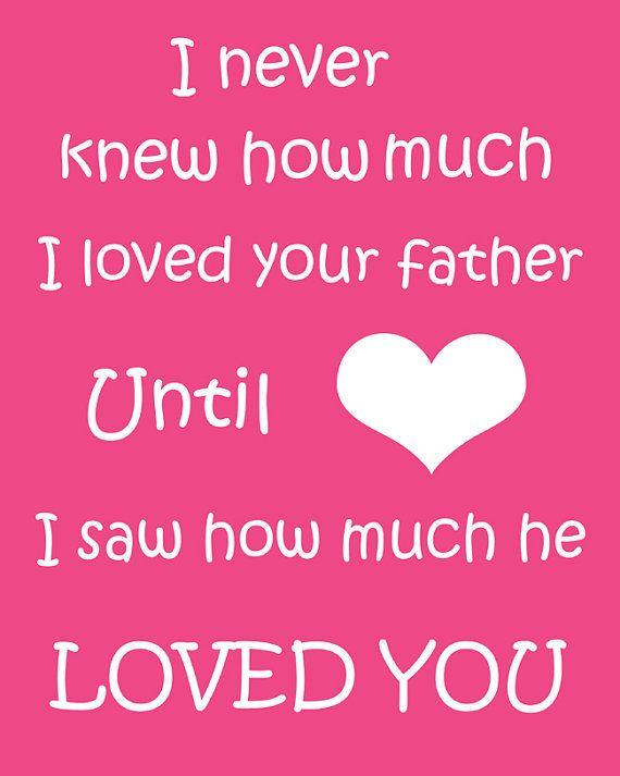 So sweet.Beautiful Feelings, Quote Wall Art, Nursery Art, Art Prints, My Heart, Baby Daddy, So True, Fathers, Families