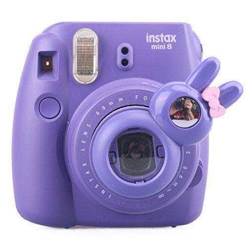 [Fujifilm Instax Mini 7s 8 8+ 9 Selfie Lens] — CAIUL Rabbit Style Instax Close Up Lens with Self-portrait Mirror For Fujifilm Instax Mini 8 8+ 9 7s Camera and Polaroid PIC-300 (PURPLE) | Instax Camera Fun