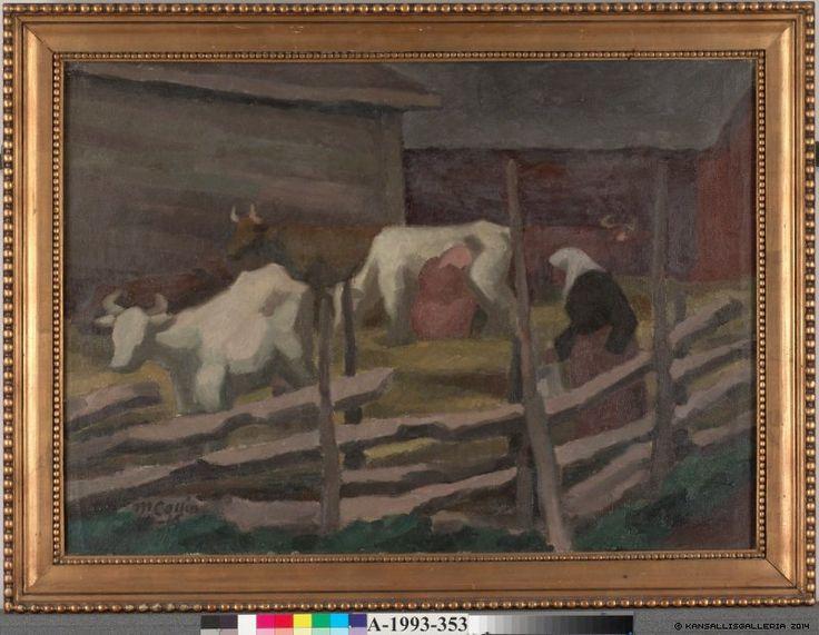 Marcus Collin (1882-1966) Lehmiä / Cows 1916 - Finland - Finnish cows
