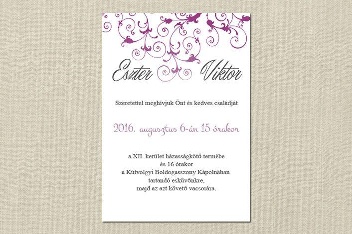 Classic Wedding Invitation, wedding invitation, Floral wedding invitation, Pink Wedding Invitation