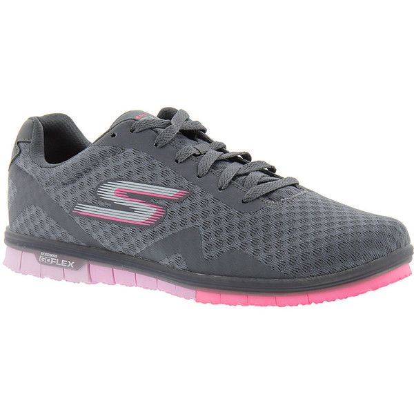 Skechers Performance Go Mini Flex-14006 Women's Grey Sneaker 6.5 M ($70) ❤ liked on Polyvore featuring shoes, grey, miniature shoes, laced shoes, mini shoes, skechers footwear and flexible shoes