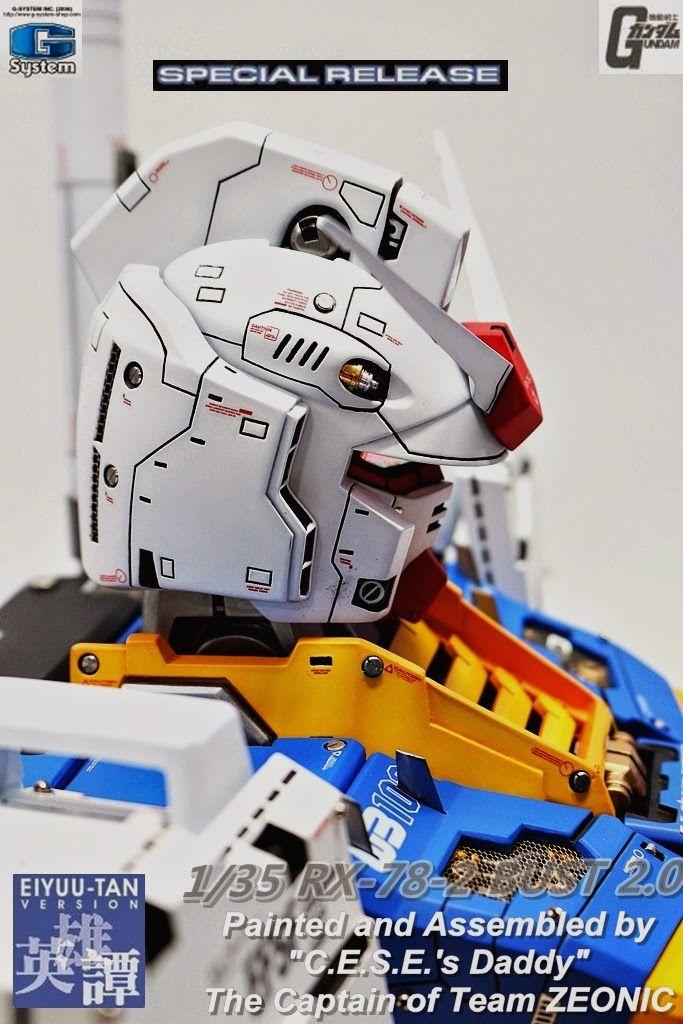 G-System 1/35 RX-78-2 Gundam Ver. 2.0 Bust - Painted Build Modeled by jjhangel777