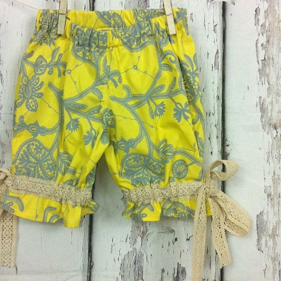 Girls bloomers in Amy Butler lark size three by CecilandBeryl