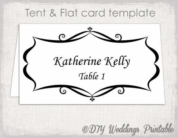 Place Cards Templates 6 Per Sheet Beautiful Place Card Template Tent And Flat Name Card T Free Place Card Template Place Card Template Place Card Template Word