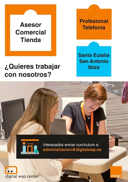 ¡Únete a nuestro equipo! #OfertaDeTrabajo #OfertaDeEmpleo #Job #Julio #Summer #IslasBaleares #Ibiza #SantaEulalia #SanAntonio