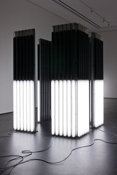 Andrei Molodkin - Cube Acrylic tubes filled with crude oil and argon gas Andrei Molodkin was born in Boui, a town North of Moscow, Russia and started drawing using a simple ballpoint pen...