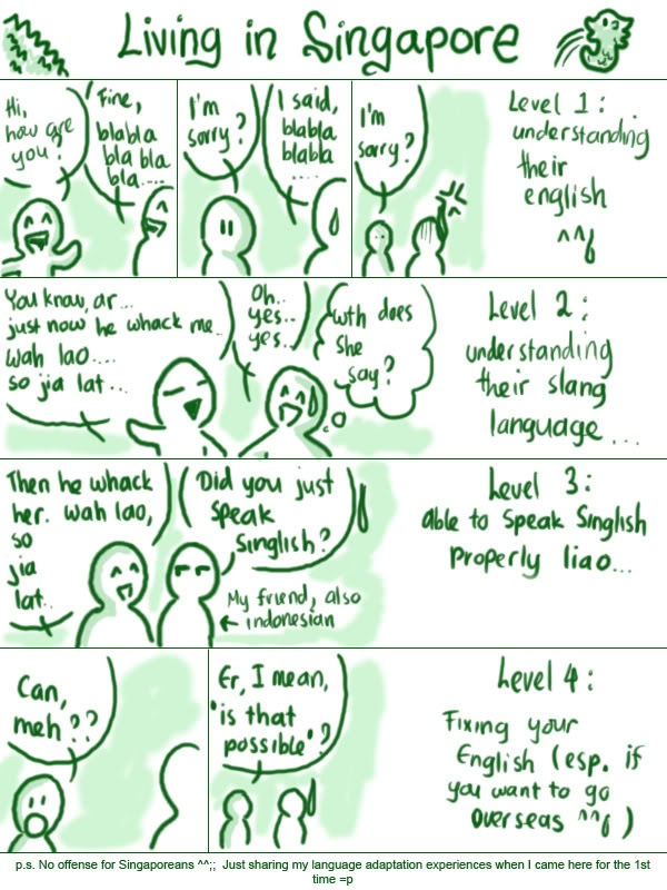 essay on singlish This comes even as concerns have been raised over how singlish could  and  he has marked about 20 undergraduate essays and five theses.