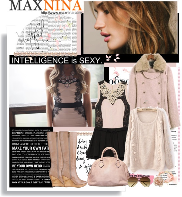 """""""Maxnina. Intelligence is sexy."""" by hamaly ❤ liked on Polyvore"""