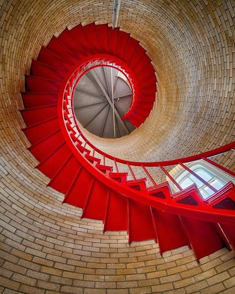Nauset Lighthouse,  Eastham, Massachusetts, USA, 1877 Nauset Light, officially Nauset Beach Light, is a cast iron plate shell lined with brick and stands 48 feet (15 m) high.[1] Photo: David De Backer [via] Lighthouses: ►tumblr ►facebook