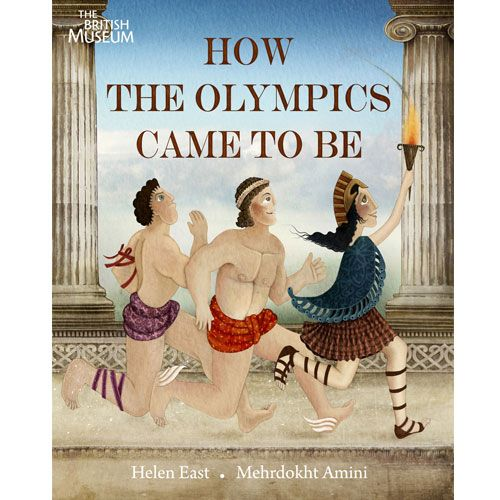Children's Book explaining how it came to be that the Greek gods gather on Mount Olympus to watch the games taking place on Earth below.