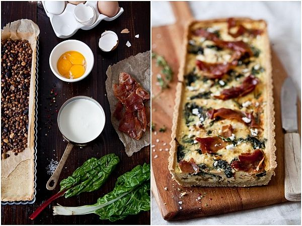 Swiss Chard, Goat Cheese And Prosciutto Tart Recipe — Dishmaps