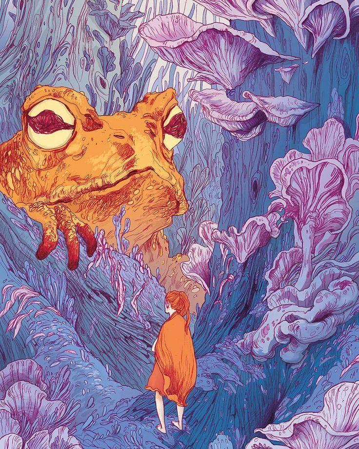 """Meine Illustration zu """"Däumelinchen"""" für die…"""