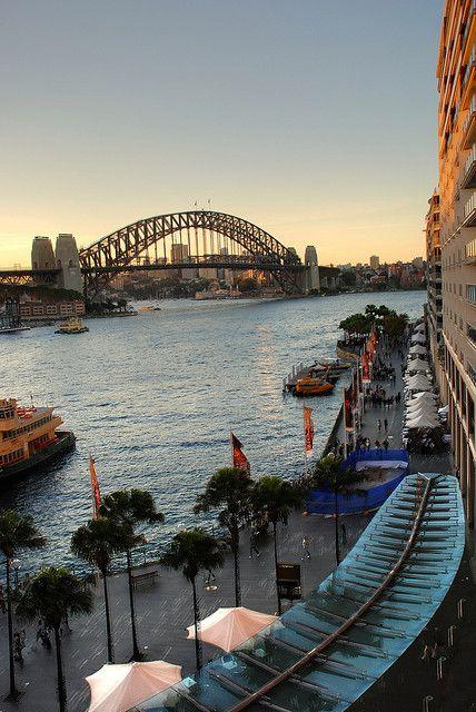 HDR,Bridge, Circular Quay , Sydney, Australia Best tasting seafood platter and gelato ice cream, I found here!