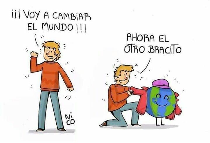 Vamos A Cambiar El Mundo Hecho Por Nicoilustraciones Humornegro Humor Comic Webcomic Historietas Risas Dibujos Comics Funny Pictures Humor