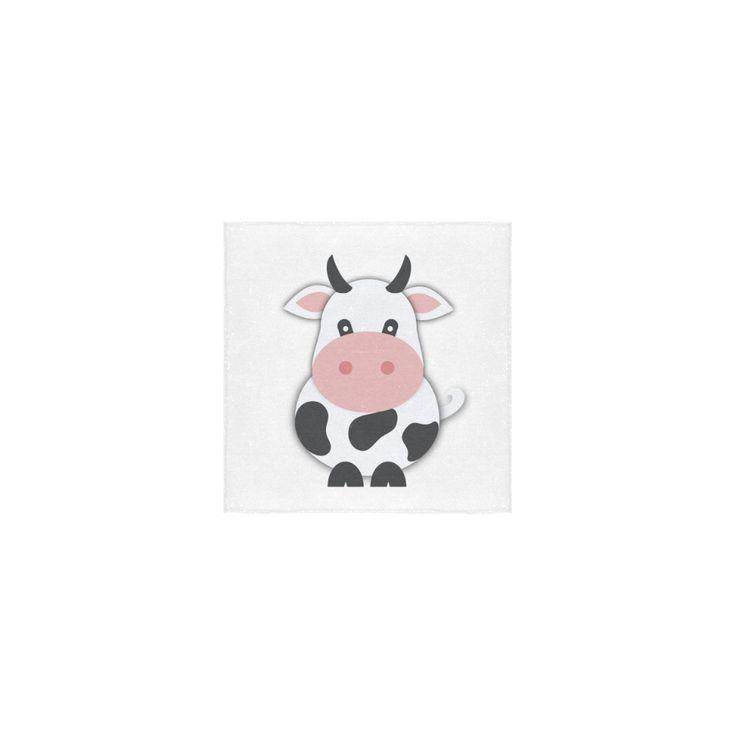 "Cute Cow Square Towel 13""x13"""